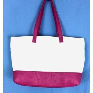 90's Vintage Calvin Klein Spell Out Tote Bag